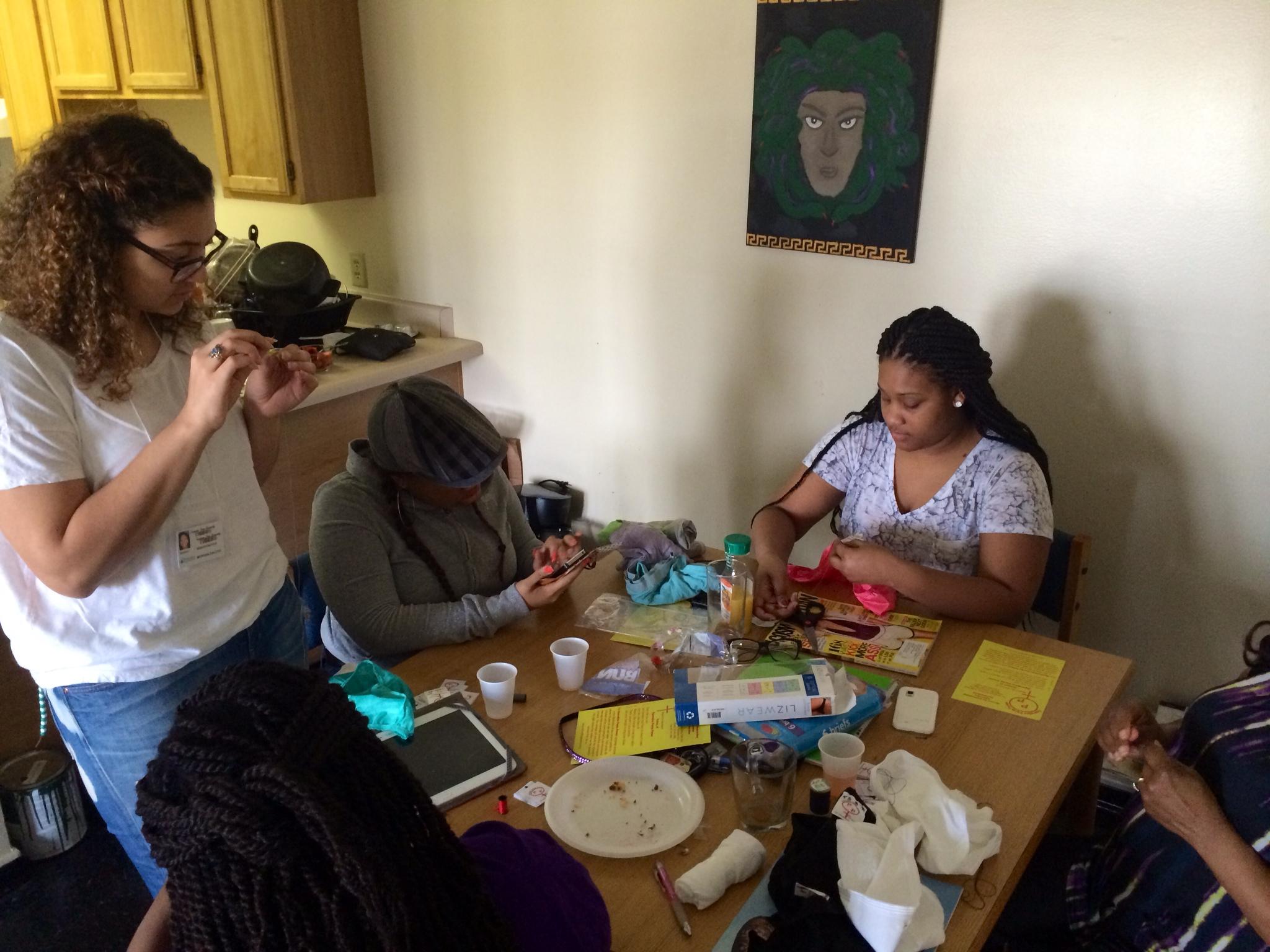 3-2014 Volunteer Sewing Party 01