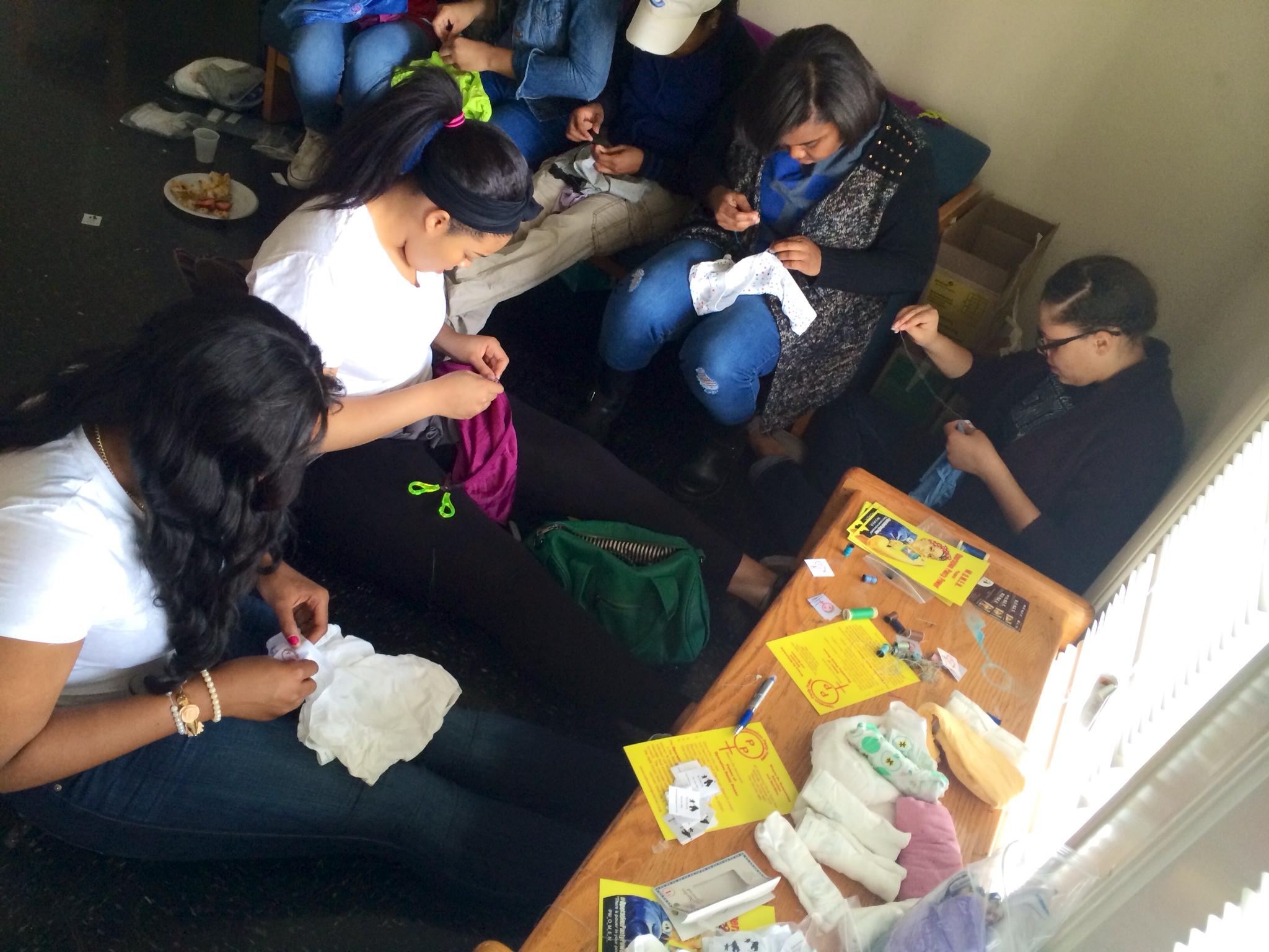 3-2014 Volunteer Sewing Party 02